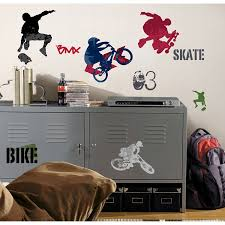 roommates rmk1690scs extreme sports peel and stick wall decals roommates rmk1690scs extreme sports peel and stick wall decals wall decor stickers amazon com