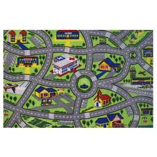 Kid Play Rug Rugs Time Driving Multi 6 Ft 8 In X 10 Ft Area Rug