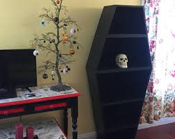 coffin bookshelf coffin bookcase etsy