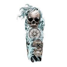 sleeve nautical with skulls custom design