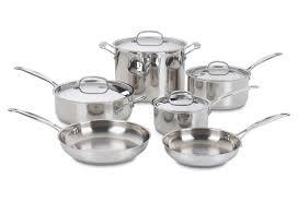 la baie batterie de cuisine 10 pc cookware set silver kitchen stuff