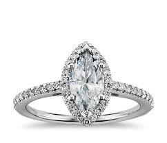 marquise cut halo diamond engagement ring in platinum blue nile