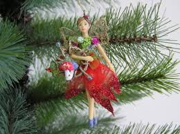 gisela graham christmas resin and fabric woodland fairy tree