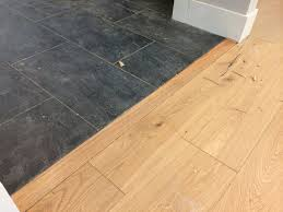 Laminate Flooring Slate 100 To Install This Transition Piece Between The Slate Tile And