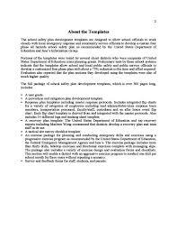 sample safety plan template free download