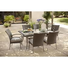Woodbury 7 Piece Patio Dining Set - home depot wicker chair cushions home chair decoration