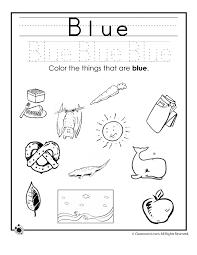 learning colors worksheets for preschoolers color blue worksheet