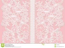 wide lace ribbon wide white seamless lace ribbon on a pink background stock vector