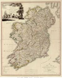 Old Map Ireland 1797 Beaufort Old Map Reprint Old Maps