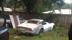 corvettes for sale in florida for sale abandoned 1973 chevy corvette stingray ls4 454 rescue