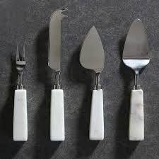 Set Of 4 Cheese Knives Marble Handle Cheese Knives Set Of 4 Cheese Knives
