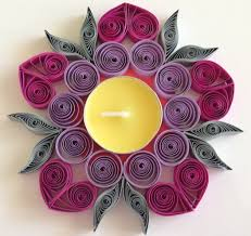 how to make quilling candle holder quilling candle holders
