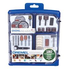 dremel 710 09 180 piece all purpose rotary accessory kit rotary