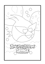 angry birds birdday party printable coloring pages orange bird