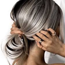 grey streaks in hair ash every shade of ash emilyrosehannon rocks this color