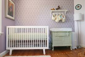 Purple Nursery Decor Baby Nursery Decor Great Pattern Combination Color Purple Baby