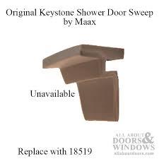 Replacement Shower Door Sweep Shower Door Bottom Vinyl Seal Sweep Keystone By Maax Light Grey