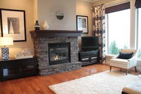 stack stone fireplace in living room carameloffers