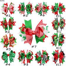 decorative bows 80pcs lot christmas hair bows with single hair handmade ribbon