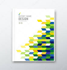Geometric Flag Cover Report Report Cover Page Template Word Report Cover Page