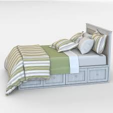 bed linen 3d model cgtrader