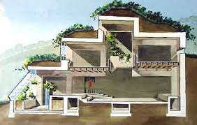 earth sheltered homes and berm houses a great cutaway view of