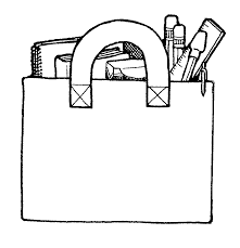 free coloring clipart image 2009 backpack cartoon free