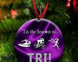triathlon ornament etsy