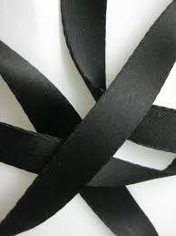 vintage 30s black satin ribbon cotton back rayon 5 8 inch