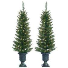 potted christmas trees christmas decorations the home depot