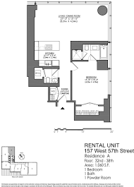A Floor Plan by One 57 Nyc Apartments For Sale And Rent Citty
