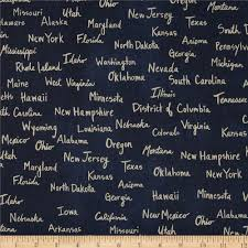 cotton u0026 steel home decor canvas state words navy discount