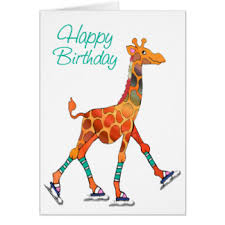 ice skating birthday greeting cards zazzle