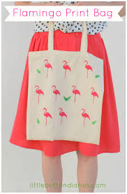 potato print flamingo bag little button diaries