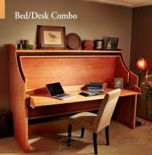Bed And Computer Desk Combo Murphy Bed Plans U2022 Woodarchivist