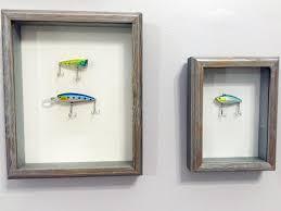 fishing lures shadow box art nautical fish marine life