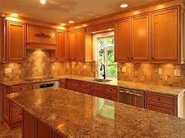 Backsplash With Venetian Gold Granite - kitchen backsplash and countertop ideas fanabis