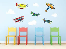 Decals For Kids Rooms Airplane Wall Decals For Kids Rooms Inspiration Home Designs