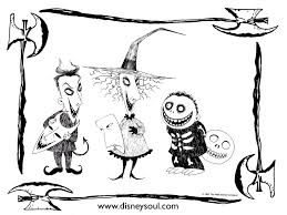 nightmare before christmas coloring pages mayor free here