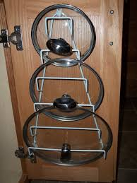 Cabinet Door Pot Lid Organizer Kitchen Cabinets A Mess Don U0027t Stack It Rack It How Does This Look