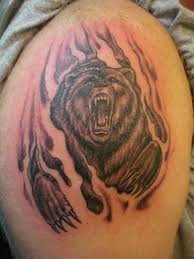 tribal grizzly bear tattoo designs