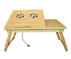 lap desk with fan deluxe comfort bamboo laptop desk with internal fan 100