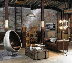 salon industriel loft maisons du monde apartment pinterest