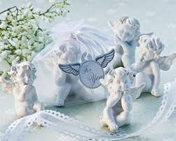 baptism figurines angel figurine favors 4 pcs christening baptism favors