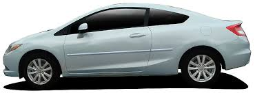 honda civic coupe painted body side moldings 2012 2013 2014