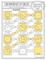 Segment Lengths In Circles Worksheet Answers Arc Lengths And Area Of Sectors Of Circles Mazes Maze Geometry