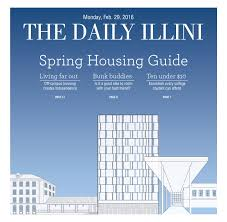the daily illini housing guide spring 2016 by the daily illini