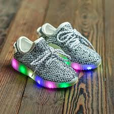 buy cheap light up breathable shoes with led design white black