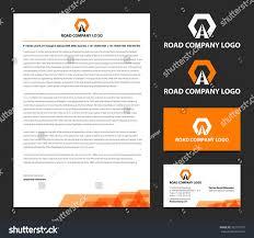 Business Card And Letterhead Vector Letterhead Business Card Logo Road Stock Vector 305177507