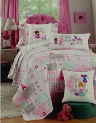 Eiffel Tower Bed Set Amazon Com Nicole Miller Home Kids Quilt And Pillow Sham Set I